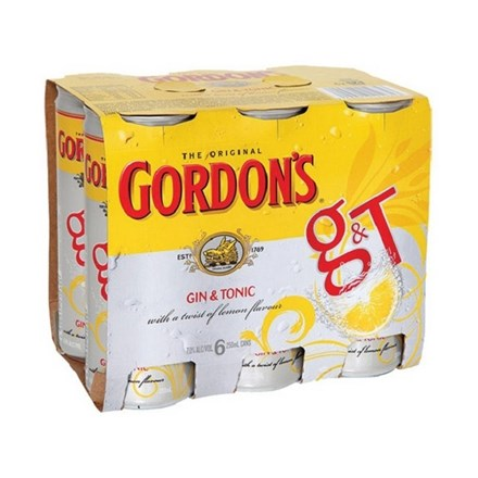 GORDON 4X6PK CANS 250ML GORDON 4X6PK CANS 250ML